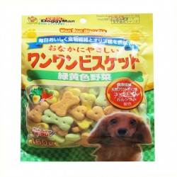 Doggyman,81992-Crunchy Green & Yellow Veg Biscuit 160G,645 image here