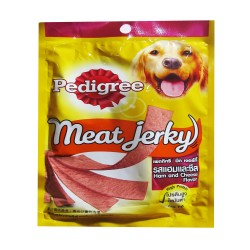 PEDIGREE MEAT JERKY HAM AND CHEESE 80G image here
