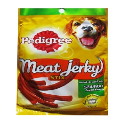 PEDIGREE MEAT JERKY STIX BACON 60G image here