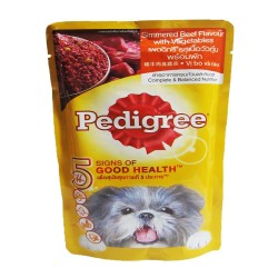 PEDIGREE POUCH SIMMERED BEEF LOAF 130G image here