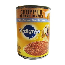 Pedigree,Can Chopped Combo With Chicken, Beef &Amp; Liver 375G,728 image here