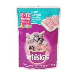 WHISKAS POUCH JUNIOR TUNA 85G image here