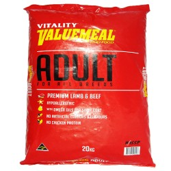 VALUEMEAL ADULT LAMB & BEEF LARGE 20KG,739 image here