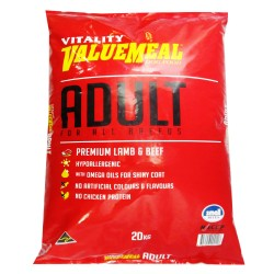 VALUEMEAL ADULT LAMB & BEEF SMALL BITES 20KG,740 image here