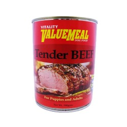 VALUEMEAL CAN TENDER BEEF 390G,743 image here