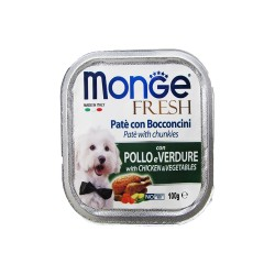 MONGE FRESH CHICKEN & VEGETABLE 100G image here