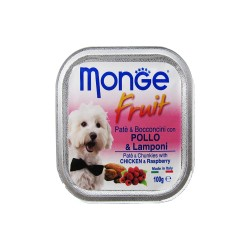 MONGE FRUIT CHICKEN & RASPBERRRY 100G image here