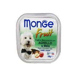 MONGE FRUIT LAMB & APPLE 100G image here