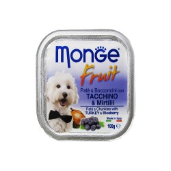 MONGE FRUIT TURKEY & BLUEBERRY 100G image here