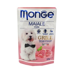 MONGE POUCH MAIALE PORK GRILL 100G image here