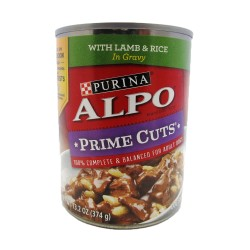 Alpo,Prime Cuts With Lamb And Rice In Gravy,614A image here