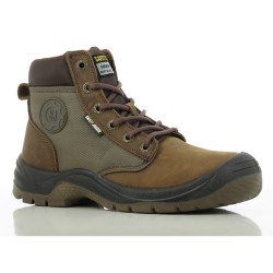 Safety Jogger DAKAR Brown High Cut Steel Toe Safety Shoes image here