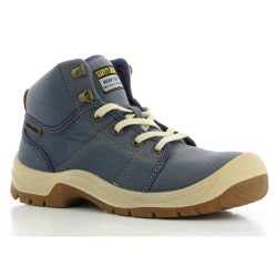 Safety Jogger DESERT Denim Blue High Cut Steel Toe Safety Shoes image here
