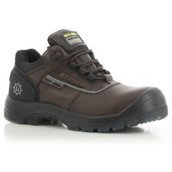 Safety Jogger PLUTO Brown Low Cut Composite Toe Safety Shoes image here