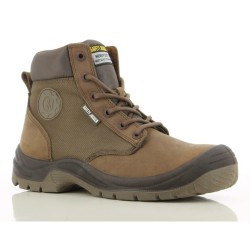 Safety Jogger RUSH Brown High Cut Steel Toe Safety Shoes w/ Side Zipper image here