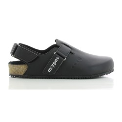 Oxypas BIANCA Black Ladies Birkenstock Style Medical Shoes,Black,Oxypas Bianca BLK image here