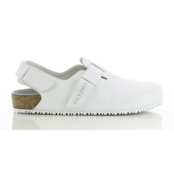 Oxypas BIANCA White Ladies Birkenstock Style Medical Shoes,White,Oxypas Bianca WHT image here