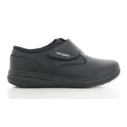 Oxypas EMILY Black Velcro Strap Nursing Shoes image here