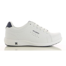 Oxypas EVA Ladies Leather Sneakers Nursing Shoes,White,Oxypas Eva WHT image here
