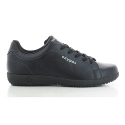 Oxypas EVAN Black Men's Leather Sneakers Nursing Shoes,Black,Oxypas Evan BLK image here