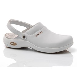 Oxypas HEIDI White Leather Nursing Clogs,White,Oxypas Heidi WHT image here
