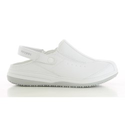 Oxypas IRIS White Ladies Slingback Nursing Shoes,White,Oxypas Iris WHT image here