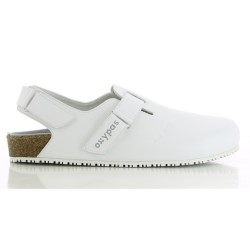 Oxypas JEFF White Birkenstock Style Sandals Nursing Shoes,White,Oxypas Jeff WHT image here