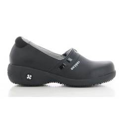 Oxypas LUCIA Black Ladies Slip-on Nursing Shoes,Black,Oxypas Lucia BLK image here