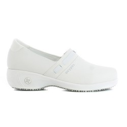Oxypas LUCIA White Ladies Slip-on Nursing Shoes image here
