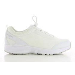 Oxypas MAUD White Ladies Easy Lace Lock Nursing Shoes,White,Oxypas Maud WHT image here