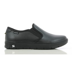 Oxypas NADINE Black Ladies Slip-on Loafers Nursing Shoes,Black,Oxypas Nadine BLK image here
