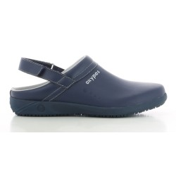 Oxypas REMY Navy Men's Leather Nursing Clogs,Navy,Oxypas Remy NAV image here