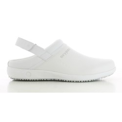 Oxypas REMY White Men's Leather Nursing Clogs,White,Oxypas Remy WHT image here