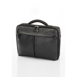 Hideo Wakamatsu, Fat Handle Laptop Bag, Black, 85-69191 image here