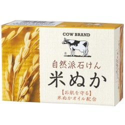 COW BRAND Rice Bran Soap 100g image here