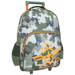 Creative Gear,New York Fatigue Camouflage Creative Gear School Bag Trolley for Boys (TRO-NEWYORK18),dark green,TRO-NEWYORK18 image here