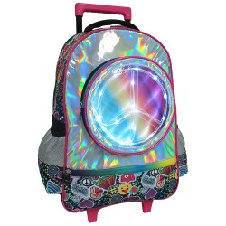 Creative Gear,Emoticons Pattern LED Light Bag Creative Gear School Trolley Bag - Unisex (TRO-EMOTICON18),pink,TRO-EMOTICON18 image here