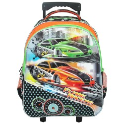 Creative Gear,Flame Racers Creative Gear School Trolley Bag for boys (TRO_FLAMERACERS16),orange,TRO-FLAMERACERS16 image here