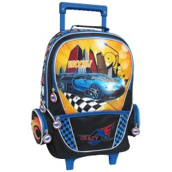 Crazy Car Creative Gear School Bag Trolley for Boys (TRO-CRAZYCAR16) image here