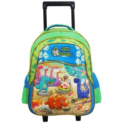 Creative Gear,Dino World Creative Gear School Bag Trolley for Boys (TRO-DINO16),green,TRO-DINO16 image here