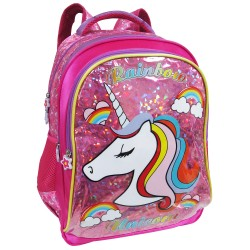 Creative Gear,Rainbow Unicorn Creative Gear School Backpack for Girls (BP-RAINBOW16),pink,BP-RAINBOW16 image here