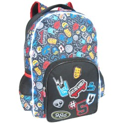 Creative Gear,Icons Pattern Black LED Light Bag Creative Gear School Backpack for Boys (BP-BLACKICON18),black,BP-BLACKICON18 image here