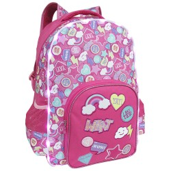 Creative Gear,Icons Pattern Pink LED Light Bag Creative Gear School Bag Backpack for Girls (BP-PINKICON18),pink,BP-PINKICON18 image here