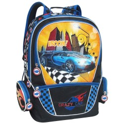 Creative Gear,Crazy Car Creative Gear School Backpack for Boys (BP-CRAZYCAR16),blue,BP-CRAZYCAR16 image here