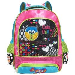 Creative Gear,Cute Owl Creative Gear School Bag Backpack for Girls (BP-CUTEOWL16),pink,BP-CUTEOWL16 image here