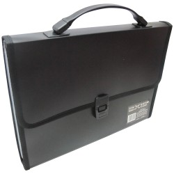 KENT, AXIS DOCUMENT CASE W/MULTIPLE COMPARTMENT (AX-0802) ,black, image here