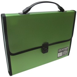 KENT, AXIS DOCUMENT CASE W/MULTIPLE COMPARTMENT (AX-0802) ,green, image here