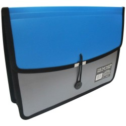 KENT, AXIS TWO TONE DOCUMENT CASE (AX-412FC) ,blue, image here