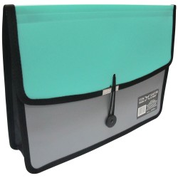 KENT, AXIS TWO TONE DOCUMENT CASE (AX-412FC) ,green, image here