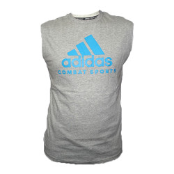 Adidas Combat Sports, COMMUNITY SLEEVELESS T SHIRT, Grey, AC-ADICTCS/WS-GYSB  image here